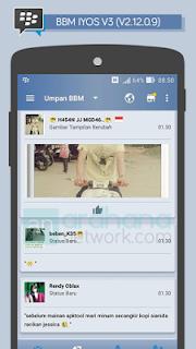 Download BBM iOS 6 V3 - Based BBM v2.12.0.9 APK