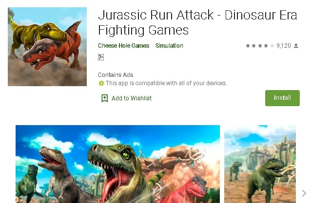 best dinosaur game on android