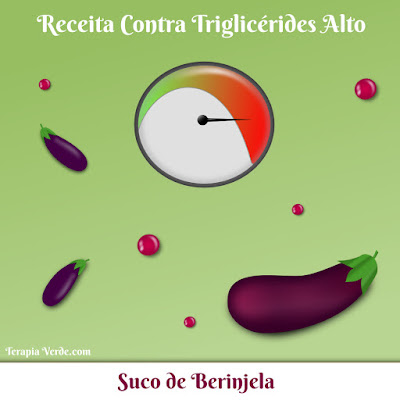 Receita Contra Triglicérides Alto: Suco de Berinjela