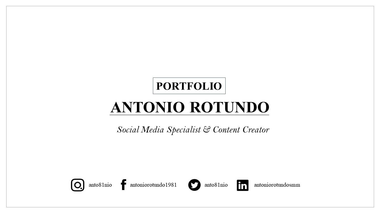 Serie di immagini sul Portfolio di Antonio Rotundo