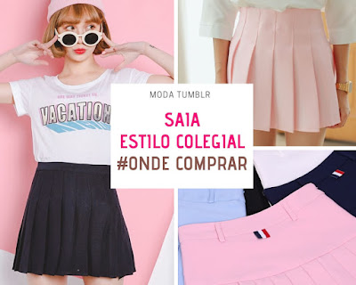 SAIA COLEGIAL MODA TUMBLR COMPRAR ONLINE | COLLAGE SKIRT