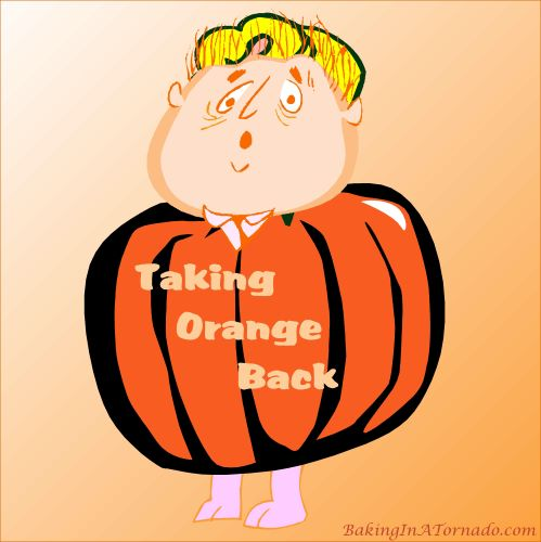 Taking Orange Back | Graphic designed by and property of www.BakingInATornado.com | #MyGraphics #humor