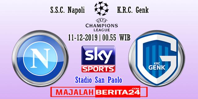 Prediksi Napoli vs KRC Genk — 11 November 2019