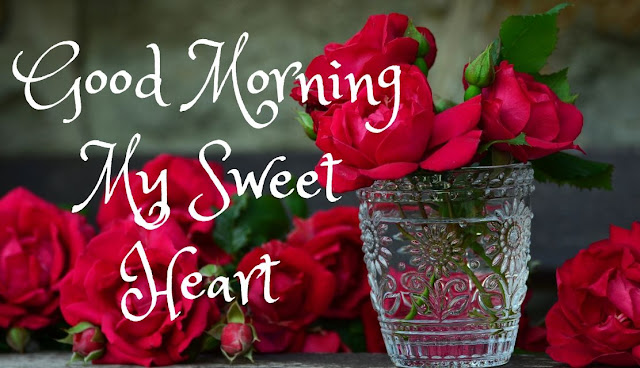 Good Morning My Sweet Heart Red Rose Image