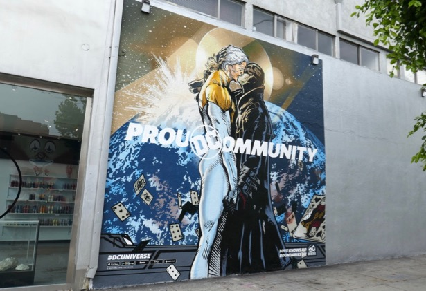 Proud Community DC Universe wall mural ad