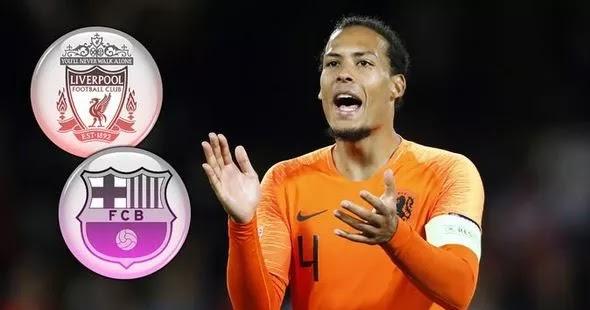 Virgil Van Dijk's Agents Respond On Barcelona Approach