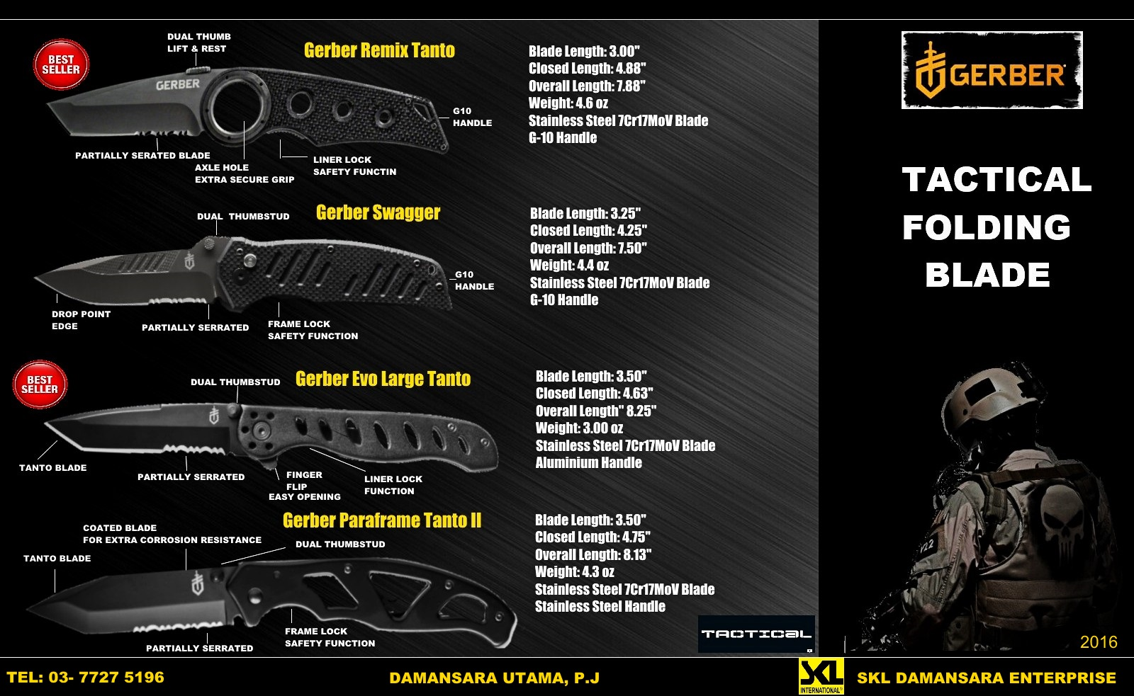 Gerber Tactical Folding Blade now on Sales!!!