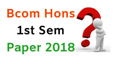 BCom (Hons) 1st Sem Question Papers 2018 Mdu (Maharshi dayanand University)