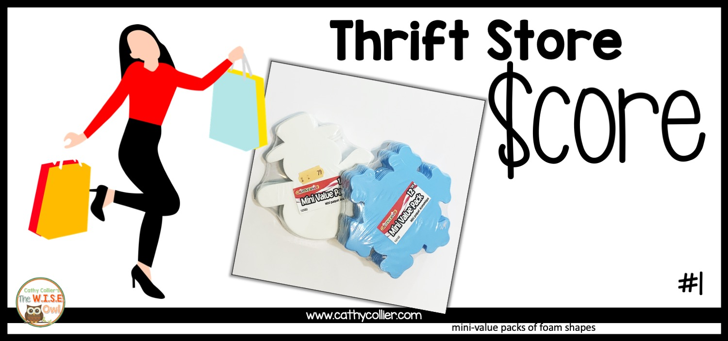 Teachers are always on a budget. Before you spend a lot, check out the local thrift store for cheaper ways to make great centers.