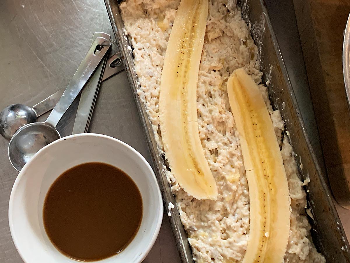 Recept på saftigt bananbröd