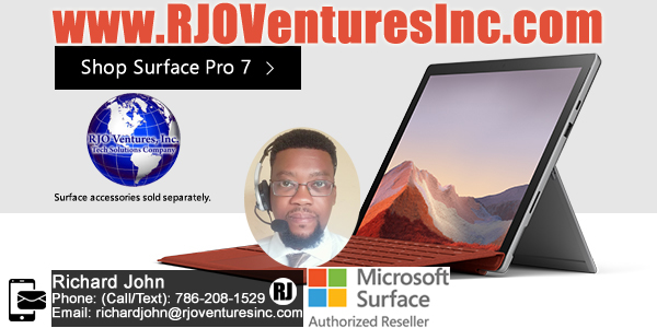 Microsoft Surface Pro 7 - RJO Ventures, Inc - #ShopTechxyz - IT Services - 786-208-1529 - Miami Technology