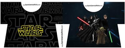 Tarjeta con Forma de Camisa de Star Wars.
