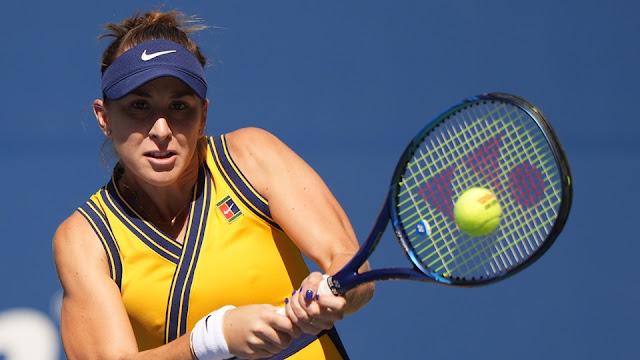 Belinda Bencic em ação pelo US Open