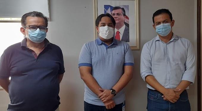 Prefeito João Igor se reune com representantes da CAEMA, em São Luís