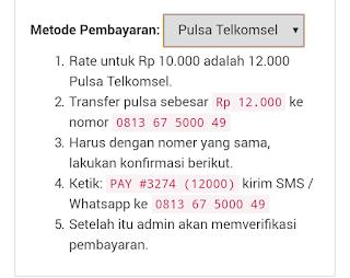 Pembayaran Metode Pulsa