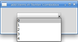 Loop Items in ComboBox Tkinter