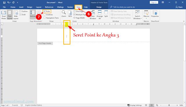 cara membuat kop surat di word 2013