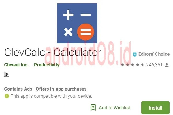 Download Aplikasi ClevCalc No Ads