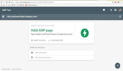 Cara Mengetahui Template Valid AMP atau Tidak