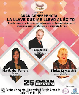 Conferencia LA LLAVE QUE ME LLEVO AL ÉXITO en Bogotá