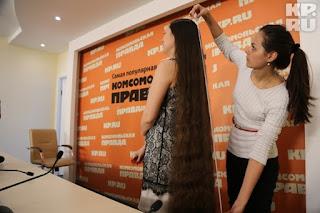 Real-Life Rapunzel floor length hair