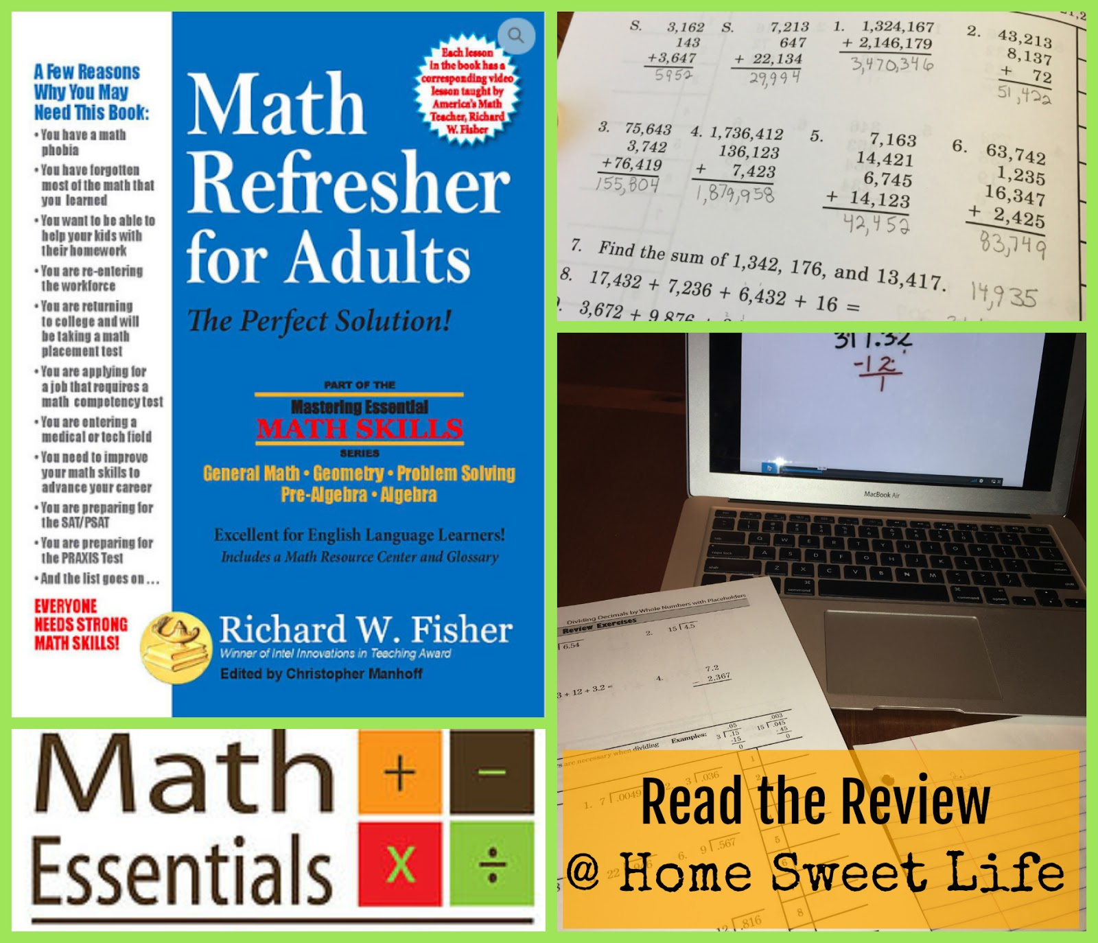 Home Sweet Life Math Refresher For Adults A Crew Review