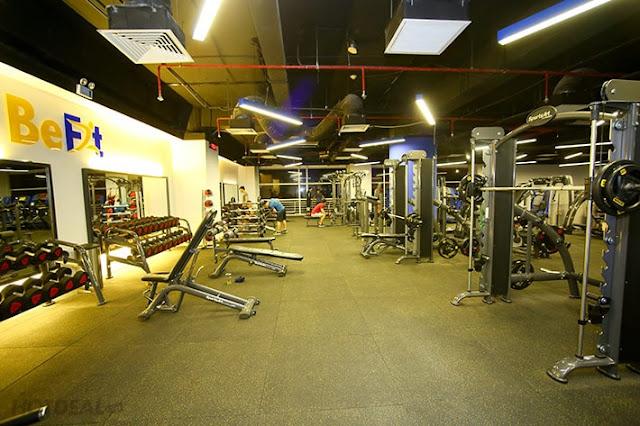 Trung tâm gym rèn luyện thể chất BeFitness & Yoga 86 Tản Đà Tâng Hưng Quận 5 TP.HCM