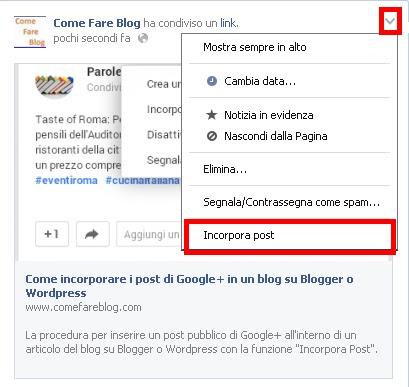 Come incorporare i post di Facebook in un blog su ...