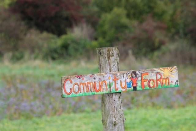 Cloughjordan Eco Village Community Farm Sign