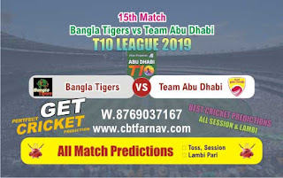 T10 League 2019 TAB vs BAT 15th T10 League 2019 Match Prediction Today Reports