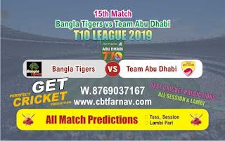 T10 League 2019 TAB vs BAT 15th T10 League 2019 Match Prediction Today Reports
