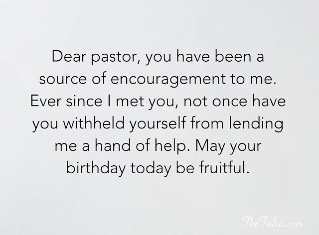 Happy Birthday to a Pastor Quotes
