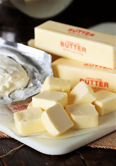 Butter Chunks to Make Basic Rolled Butter Cookies Image