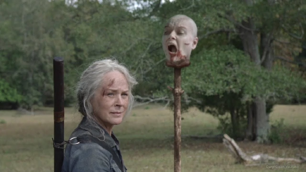 Carol y Alpha, en el episodio 10x14 de The Walking Dead