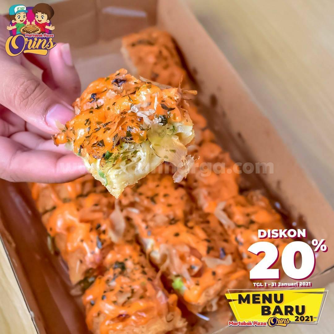 Martabak Pizza Orins Promo Martabak Telur Tuna Mentai Diskon 20%