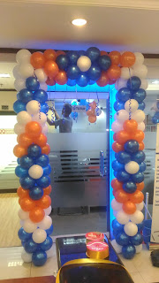 dekorasi balon bentuk gate bri