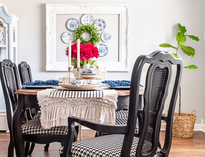 farmhouse modern dining room
