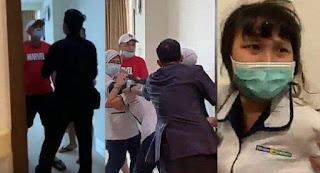 Perawat RS Siloam Palembang Di Aniaya Keluarga Pasien.