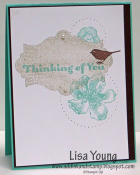 Stampin' Up! Everything Eleanor stamp set. Handmade card by Lisa Young, Add Ink and Stamp