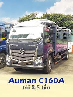 xe tải thaco auman c160a tải 8,5 tấn thùng 7,4 mét