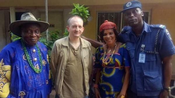 How British Media Allegedly Sends Reporter To Visit Parents Of IPOB Leader, Nnamdi Kanu (Photos)