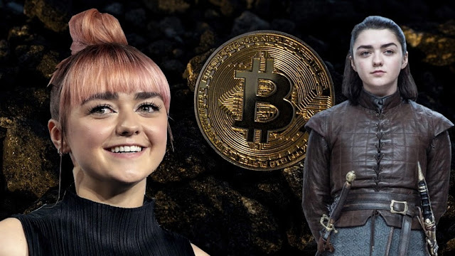 Maisie Williams bitcoin