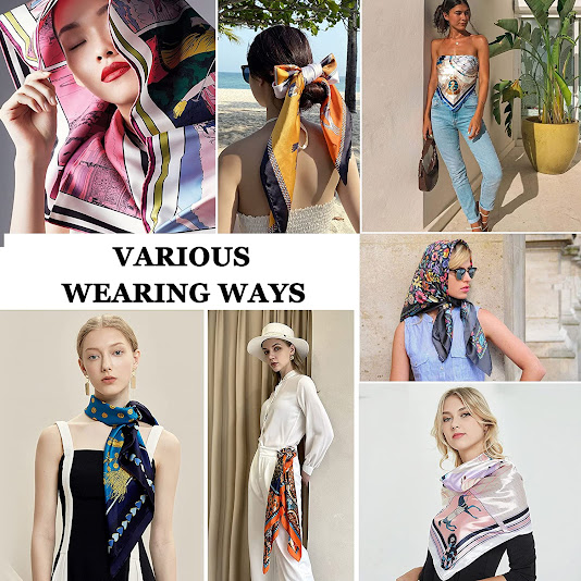 Designer Silk Satin Scarves