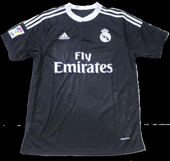 Jersey Real Madrid Rd Naga Hitam Ficial