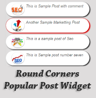 Round Corners Popular Post for Blogger