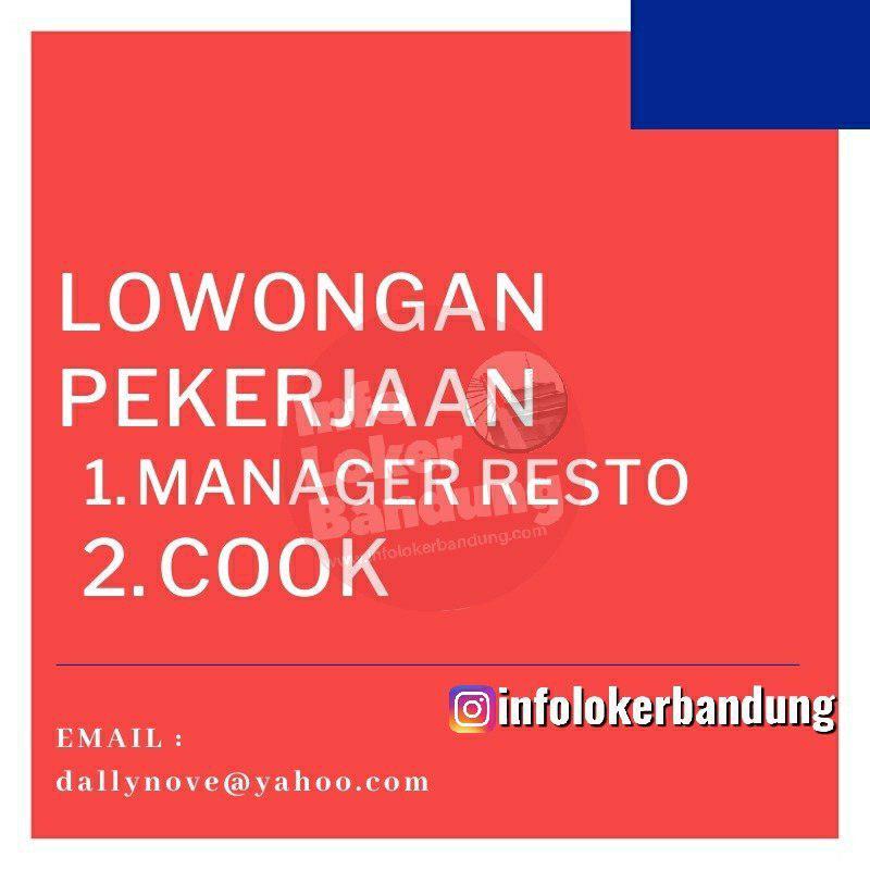 Lowongan Kerja Manager Resto & Cook Bandung November 2019