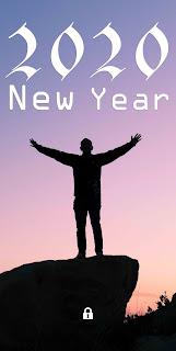 happy new year 2020 phone wallpaper, 2020