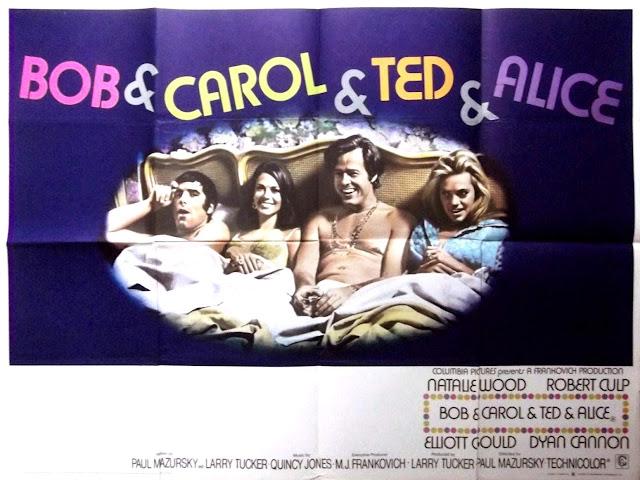 Quentin Tarantino's Swinging Sixties - Bob & Carol & Ted & Alice Film Poster - Paul Mazursky, 1969