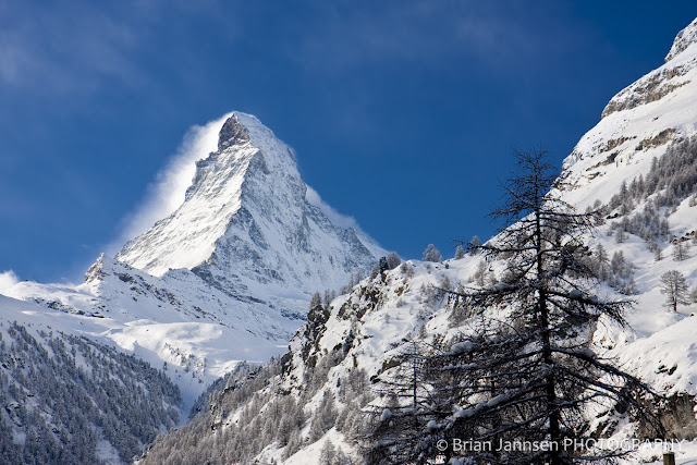 The awe-inspiring Matterhorn provides a stunning backdrop for the Swiss village of Zermatt.