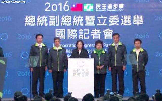 Image Attribute:  Madam President-elect Tsai Ing-wen's victory speech